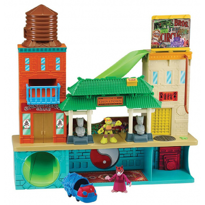 Игровой набор TMNT Штаб-квартира с фигурками Микеланджело и Сплинтера (96901)
