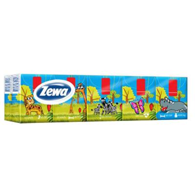 Носовые платки Zewa Deluxe Kids 3 слоя 10 шт х 10 пачек (7322540442564)