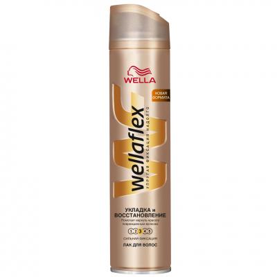 Лак для волос WellaFlex Укладка и Восстановление Сильная фиксация 250 мл (4056800797226)