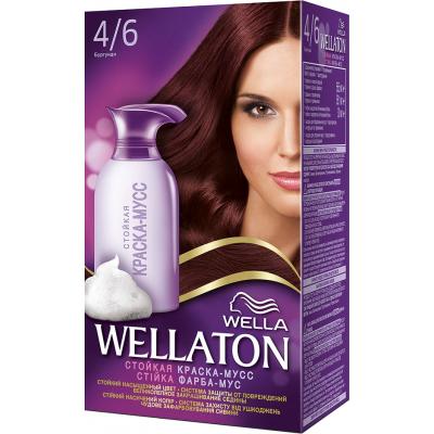 Краска-мусс для волос Wellaton стойкая 4/6 Бургунди (4056800997879)