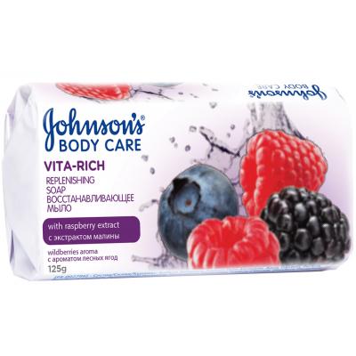 Мыло Johnson's Body Care Vita Rich Восстанавливающее экстракт малины 125 г (3574661239538)