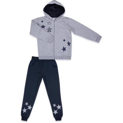 Спортивный костюм Breeze со звездами (9712-164G-gray)